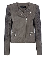 Gerry Weber Mock Suede Biker Jacket