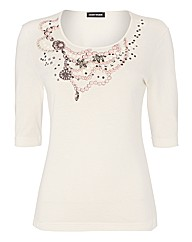 Gerry Weber Embellished Jersey Top