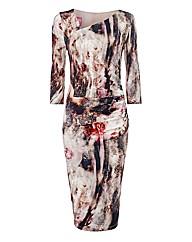 Basler Asymmetric Jersey Dress