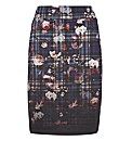 Taifun Check And Floral Skirt