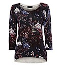 Taifun Floral-print Cotton Jumper