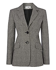 Helene Berman Wool-rich Check Blazer