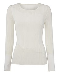 Chesca Plisse Pleated Top