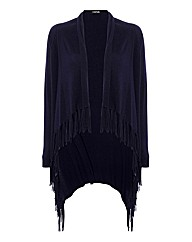 Taifun Fringed Wrap Cardigan