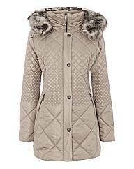 Gelco Quilted Fur-trim Coat