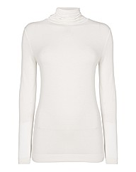 Passport Polo Neck Long Sleeve Top