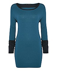 Olsen Cashmere-blend Colourblock Tunic