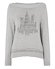 Olsen Cityscape Marl-knit Jumper