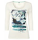 Olsen Cotton Printed Top