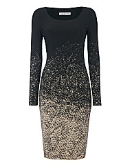 Gina Bacconi Speckle Jersey Dress