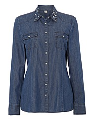 Erfo Embellished Denim Shirt