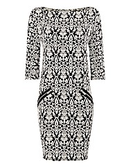 Gina Bacconi Jacquard Tunic Dress