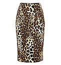 Helene Berman Leopard Print Pencil Skirt