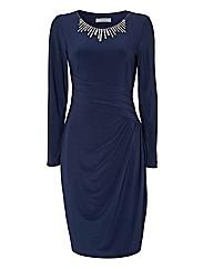 Michaela Louisa Diamante Jersey Dress