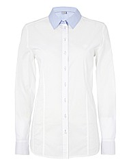 Erfo Chambray-trim Stretch Cotton Shirt