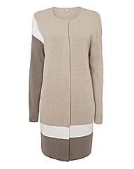 Basler Colour Block Knit Cardigan