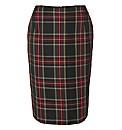 Erfo Plaid Pencil Skirt