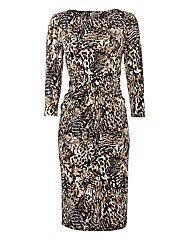 Gray & Osbourn Animal Printed Dress