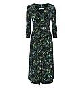 Gina Bacconi Gather-detail Jersey Dress