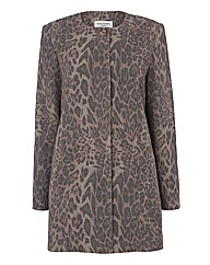 Helene Berman Leopard Swing Coat
