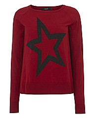 Oui Sparkle Star Jumper