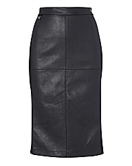 Joseph Ribkoff Mock Leather Pencil Skirt