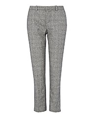 Oui Taper-leg Check Trousers