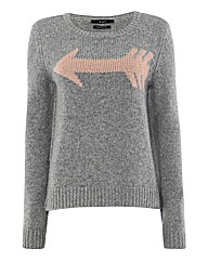 Oui Arrow Statement Jumper