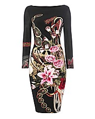 Joseph Ribkoff Digital-print Jersey Dres