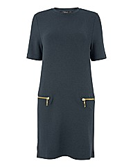 Oui Zip-pocket Shift Dress