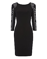 Frank Lyman Embellished Jersey Dress