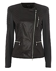 Apanage Quilted Biker Jacket