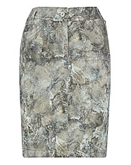 Apanage Printed Stretch Cotton Skirt