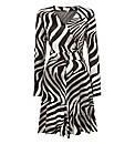 Apanage Zebra Mock Wrap Dress