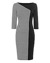 Nissa Houndstooth Panel Dress