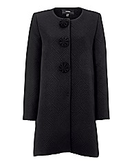 Nissa Textured Jacquard Coat