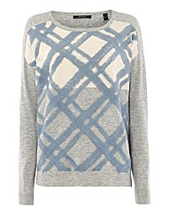 Esprit Brushed Checks Fine-knit Jumper