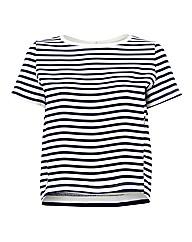 Esprit Stripe Curved-hem Top