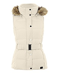 Esprit Padded Fur-trim Gilet