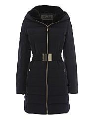 Esprit Faux Fur-trim Padded Coat