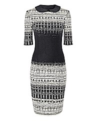 Apanage Wool-mix Monochrome Dress