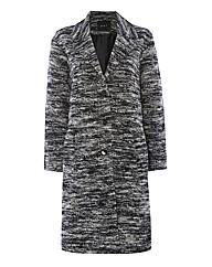 Oui Boucle Tweed Coat