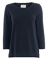 Seasalt Button-trim Cotton Jumper