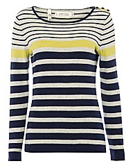 Seasalt Stripe Fine-knit Jumper