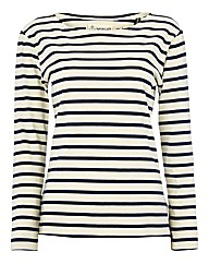 Seasalt Stripe Organic Cotton Jersey Top