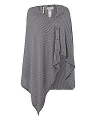 Seasalt Multiway Stripe-knit Poncho