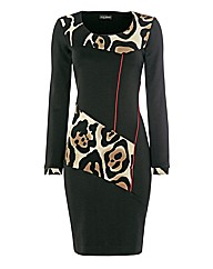 James Lakeland Leopard Panel Dress