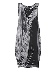 Ronen Chen Chiffon Drape Dress