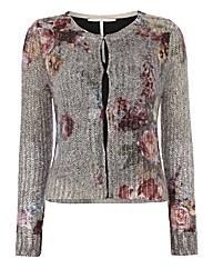 Passport Rose-print Knitted Jacket
