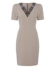 Apanage Embellished Ponte Dress